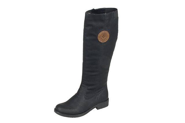 6fef5995312b7 Soňa - Dámska obuv - Čižmy - Čierne vysoké zateplené čižmy Rieker