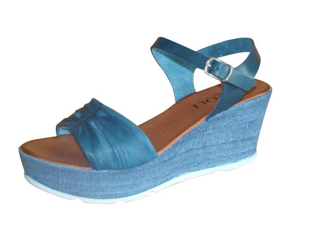 634122f9667a Soňa - Dámska obuv - Sandále - Modré otvorené sandále na klinovom podpätku  Rizzoli