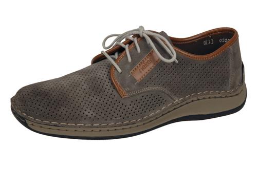 758936c286 Soňa - Pánska obuv - Poltopánky - Šedé topánky s perforáciou Rieker