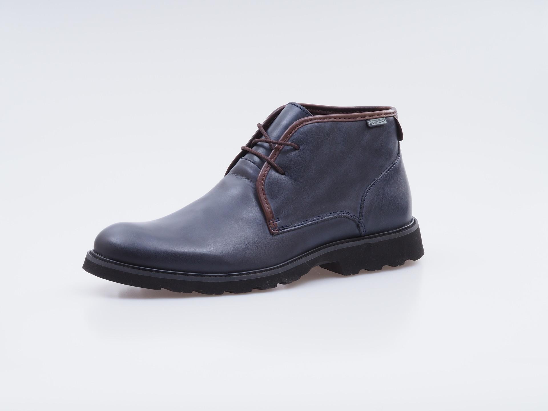 Soňa - Pánska obuv - Zimná - Tmavomodré topánky Pikolinos na šnurovanie 72a6dd94523