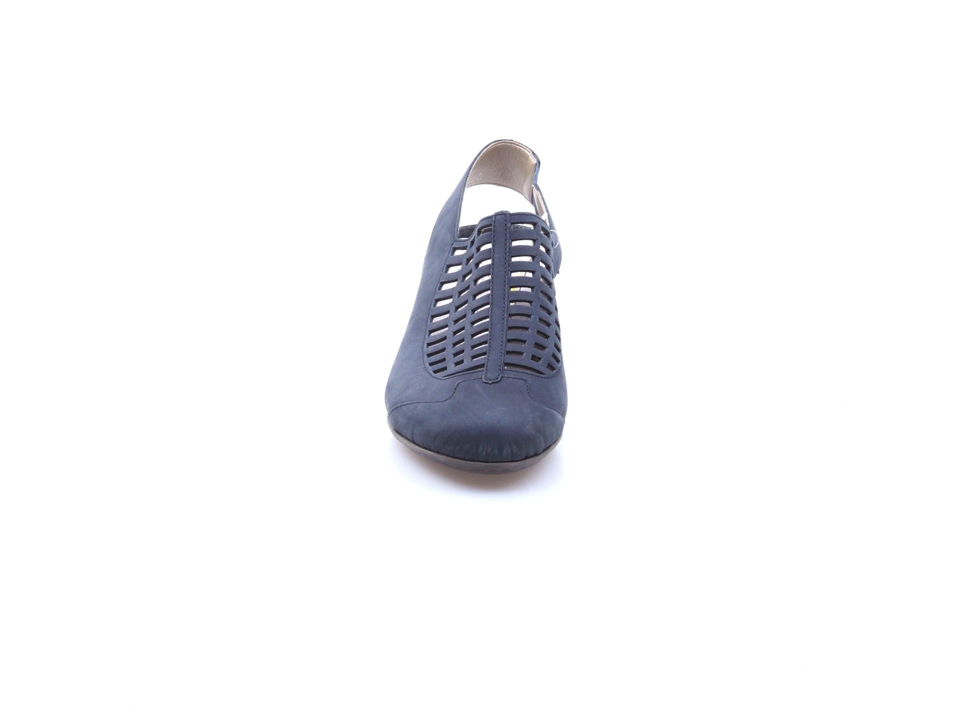 dd2b6cf9181c Soňa - Dámska obuv - Sandále - Tmavomodré uzatvorené sandále na platforme  Rieker