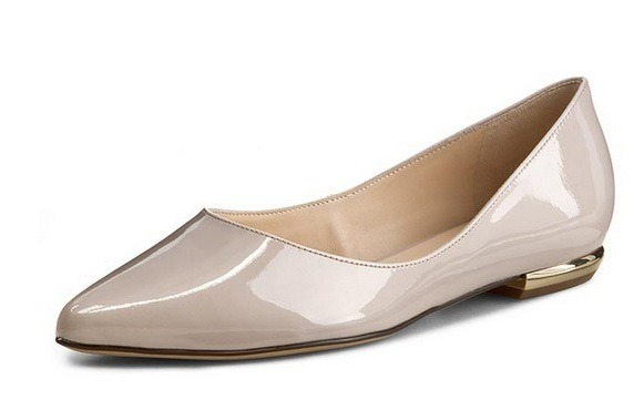 Soňa - Dámska obuv - Baleríny - Biele lesklé baleríny Högl 0bf6f731209