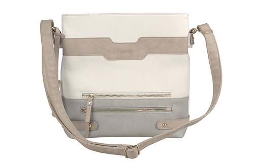 Soňa - Dámska - Dámske kabelky - Bielo-šedá kabelka cez plece Rieker 29cc6b713b3