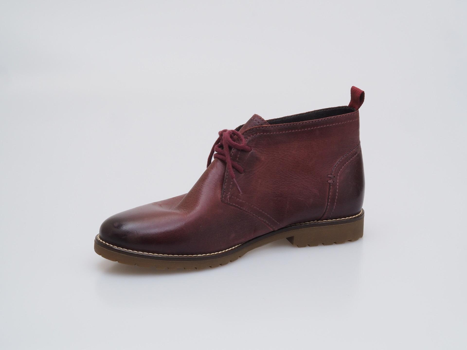 c8d555c668da Soňa - Dámska obuv - Kotníčky - Bordová dámska šnurovacia obuv