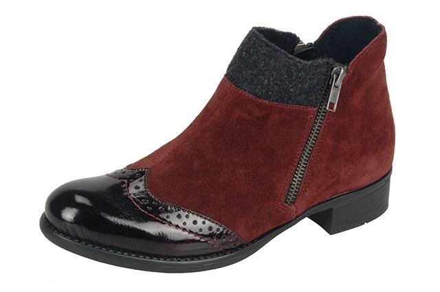 7cb35ef1f112 Soňa - Dámska obuv - Kotníčky - Bordové kožené členkové topánky ...