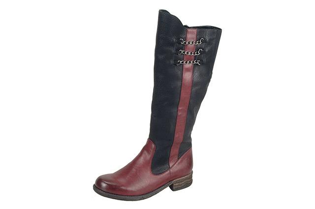 f29455f39cfe Soňa - Dámska obuv - Čižmy - Bordovo čierne zateplené čižmy Rieker