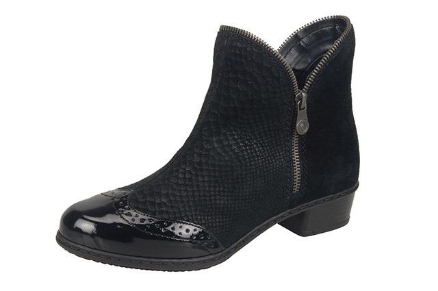 230932bc4fb3 Soňa - Dámska obuv - Kotníčky - Čierne členkové zateplené topánky Rieker