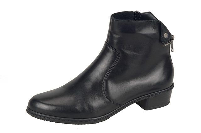 8fe33f0430c Čierne kožené kotníčky so zateplením Rieker. Čierne kožené kotníčky so  zateplením Rieker Doprava zadarmo · Obchodné podmienky Obuv Soňa