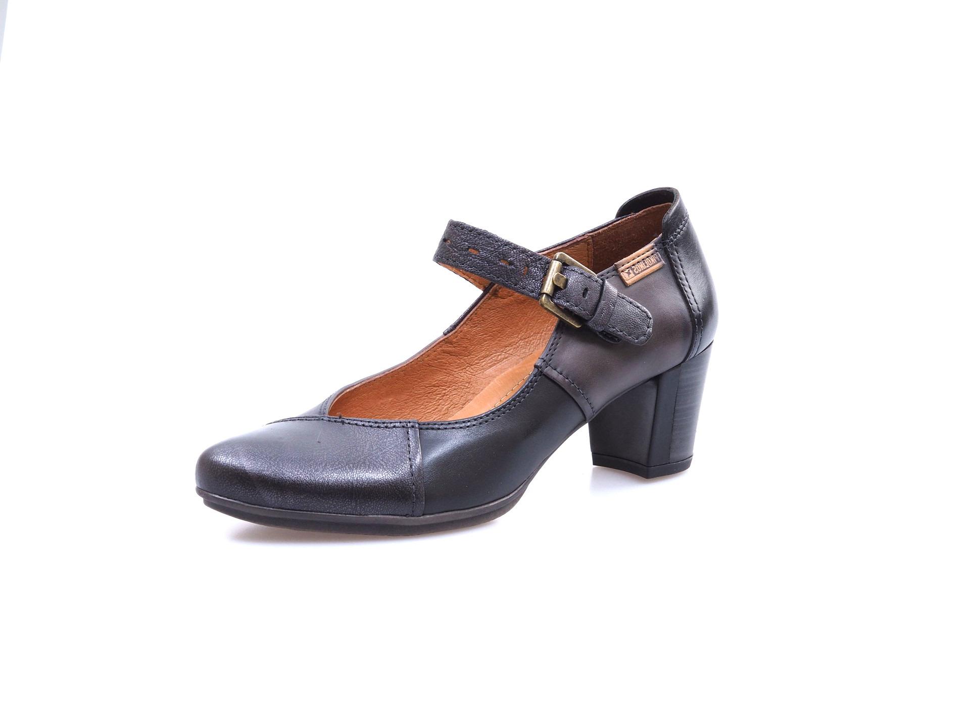 d578ef4d14 Soňa - Dámska obuv - Poltopánky - Čierne kožené topánky so zapínacím ...