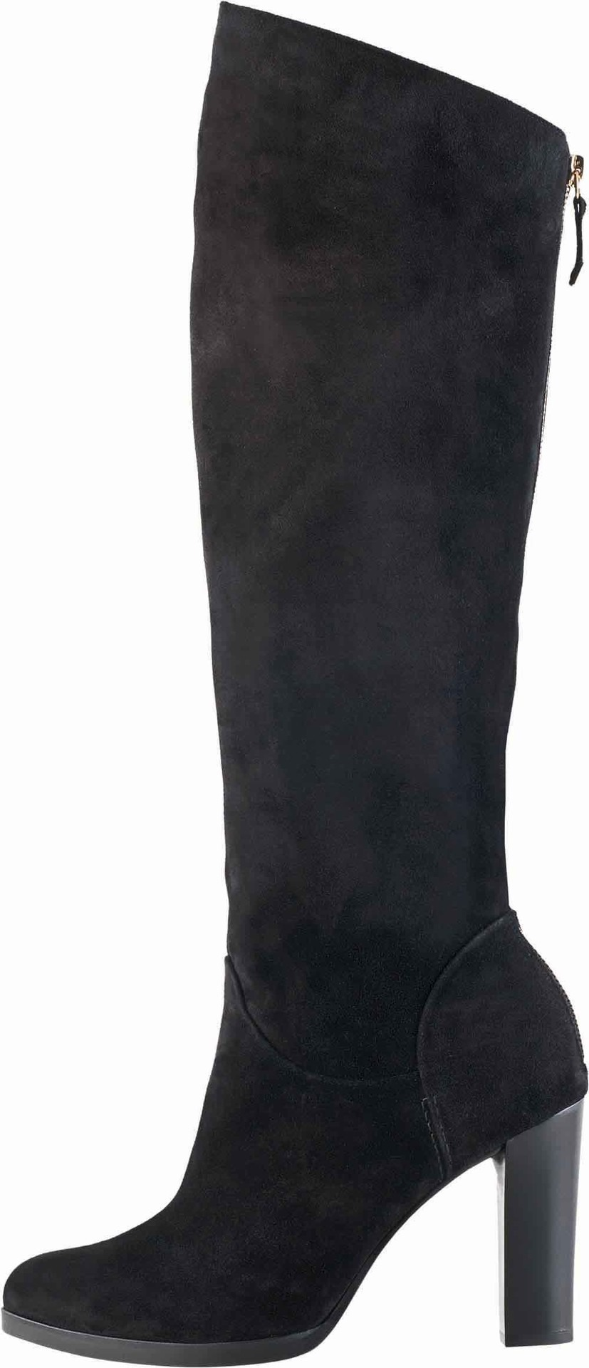 4ffa22443395 Soňa - Dámska obuv - Čižmy - Čierne vysoké čižmy z brúsenej kože Högl