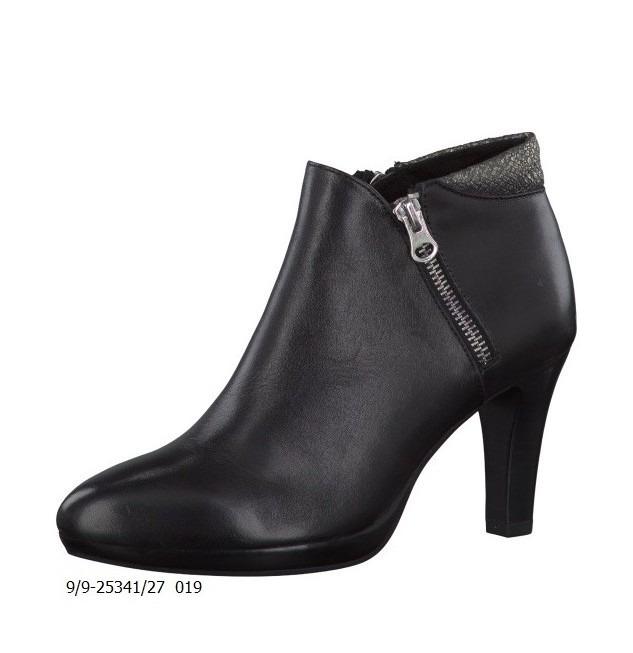 Soňa - Dámska obuv - Kotníčky - Členkové čierne kožené topánky Caprice 0666e8c6857