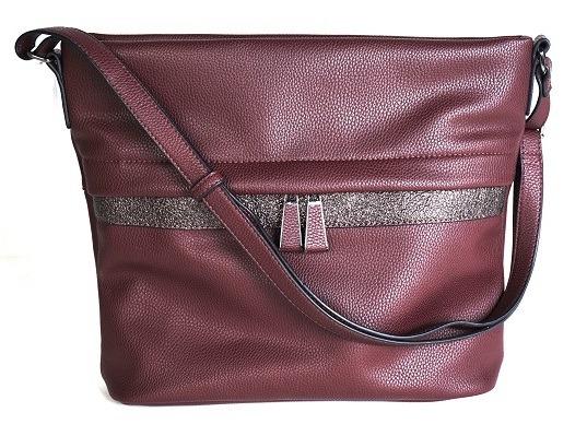 Soňa - Dámska - Dámske kabelky - Dámska kabelka cez plece - bordová 119bd2b7ba7