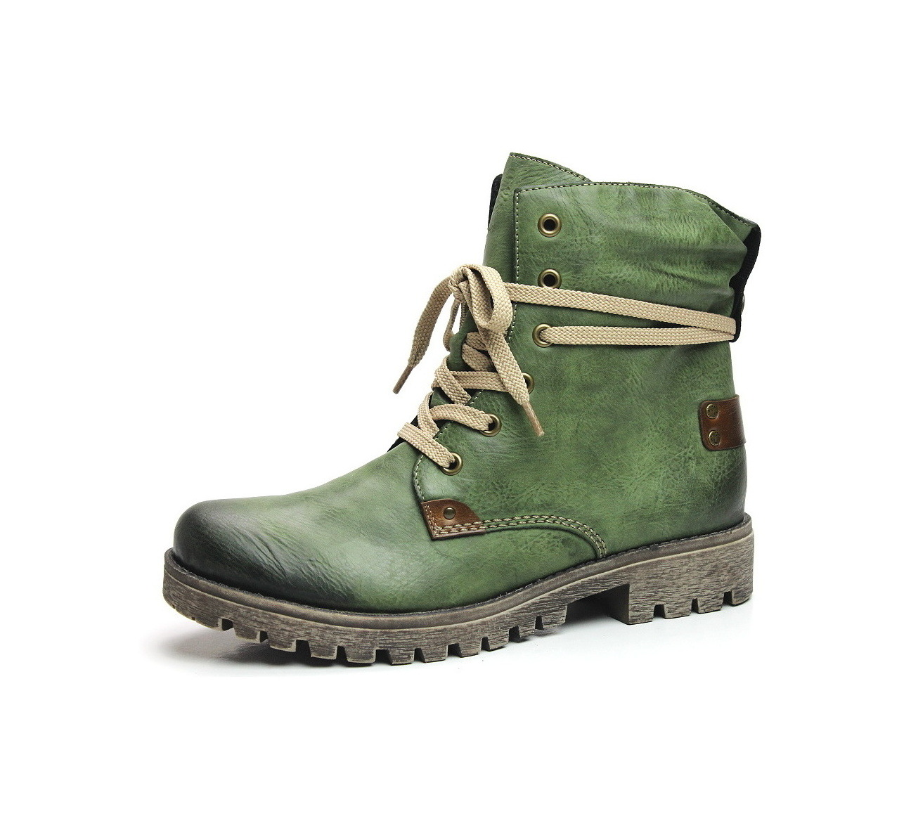 Soňa - Dámska obuv - Kotníčky - Dámska obuv značky Rieker zelenej farby 1ef2cce7cd