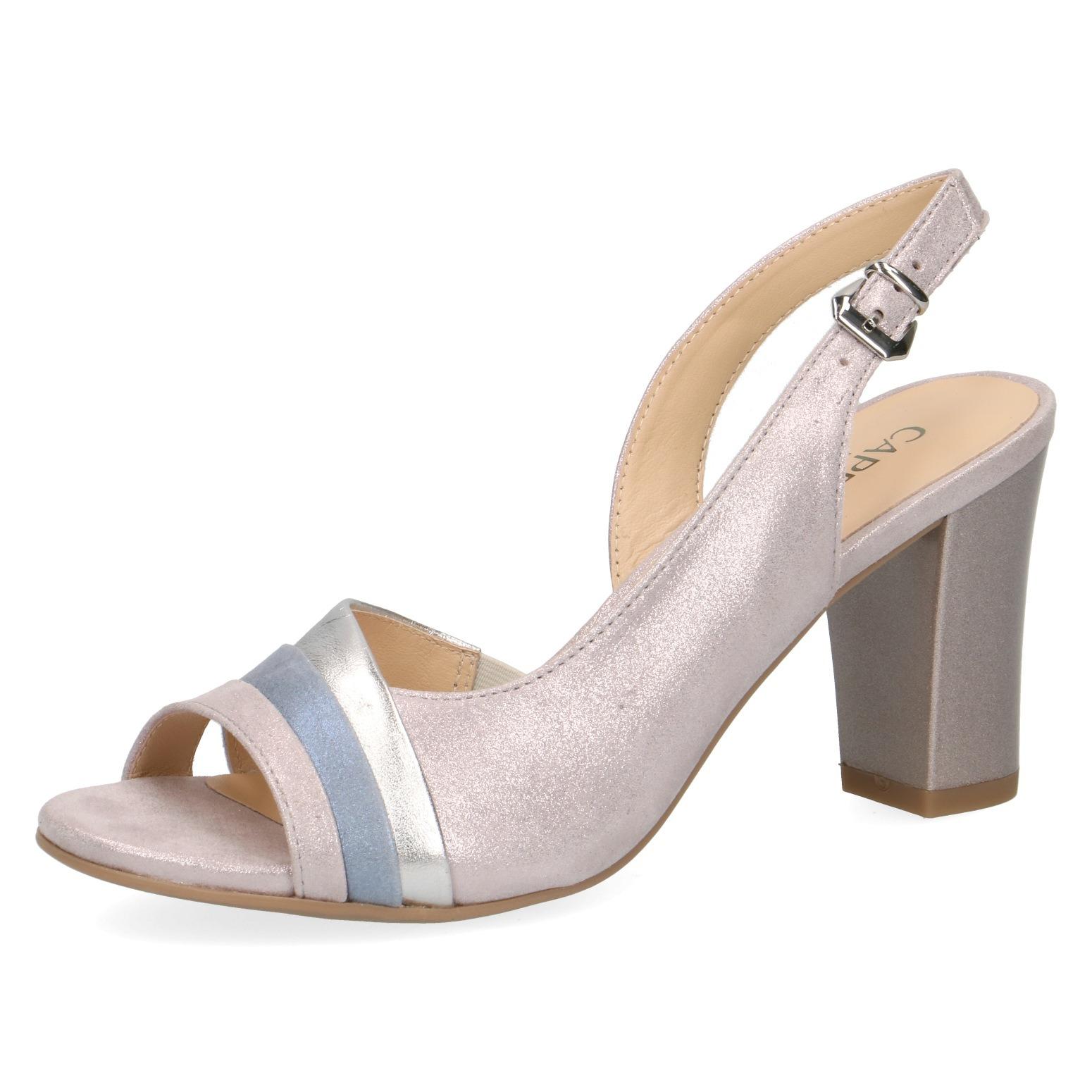 176a5eaf03176 Dámske otvorené sandále na vysokom podpätku značky Caprice farba ružová