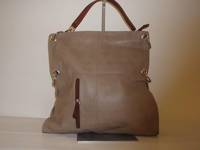 Soňa - Dámska - Dámske kabelky - Hnedá kožená kabelka cez plece 488f8604147