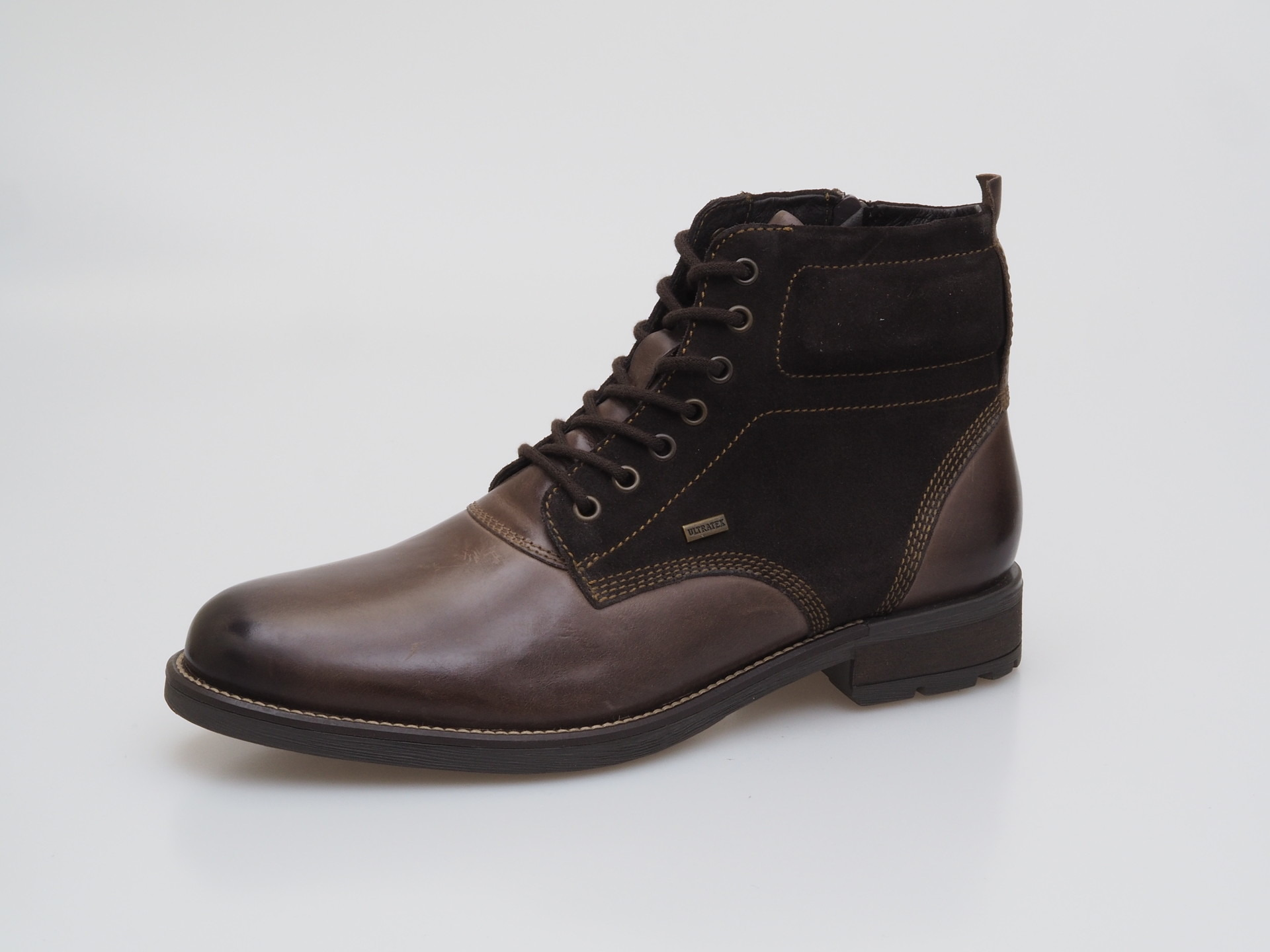 Soňa - Pánska obuv - Zimná - Hnedá pánska šnurovacia obuv zateplená ... 733c3243cab