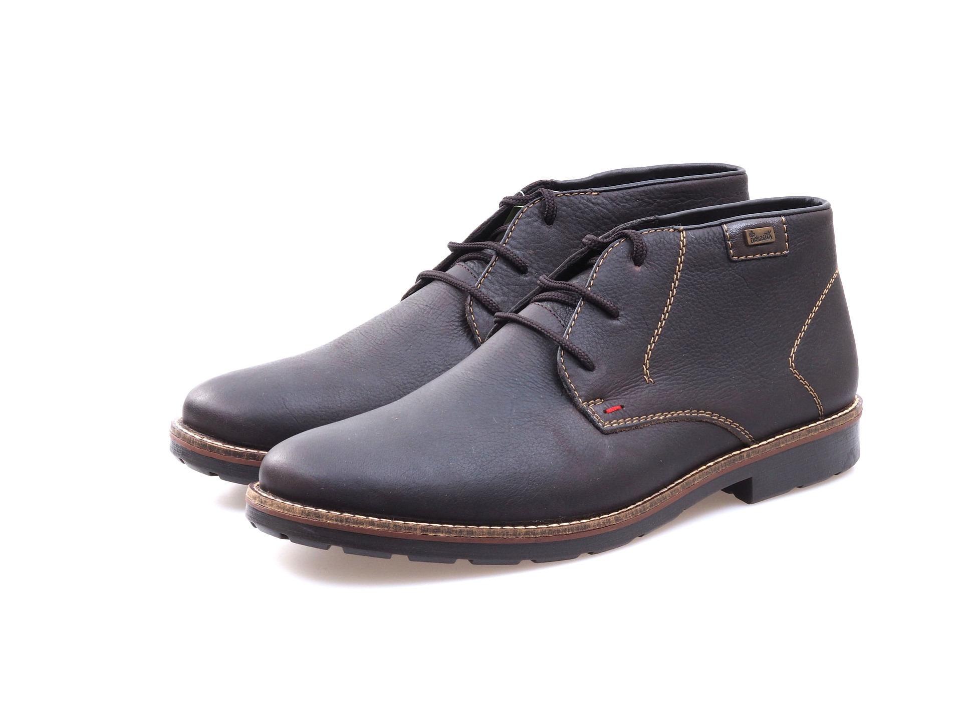 Soňa - Pánska obuv - Zimná - Hnedé kožené topánky Rieker na šnurovanie 7241c6bc75e