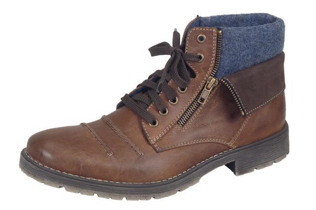 Soňa - Pánska obuv - Zimná - Hnedé šnurovacie zateplené topánky Rieker 82e49070675