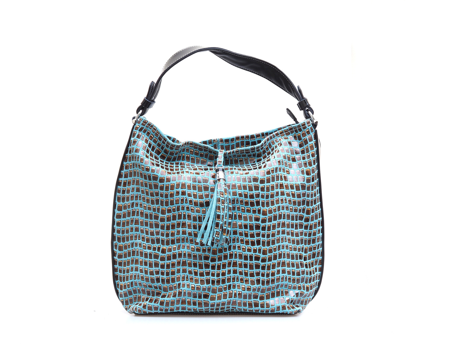 Soňa - Dámska - Dámske kabelky - Modrá dámska kabelka cez plece 483c16e7926
