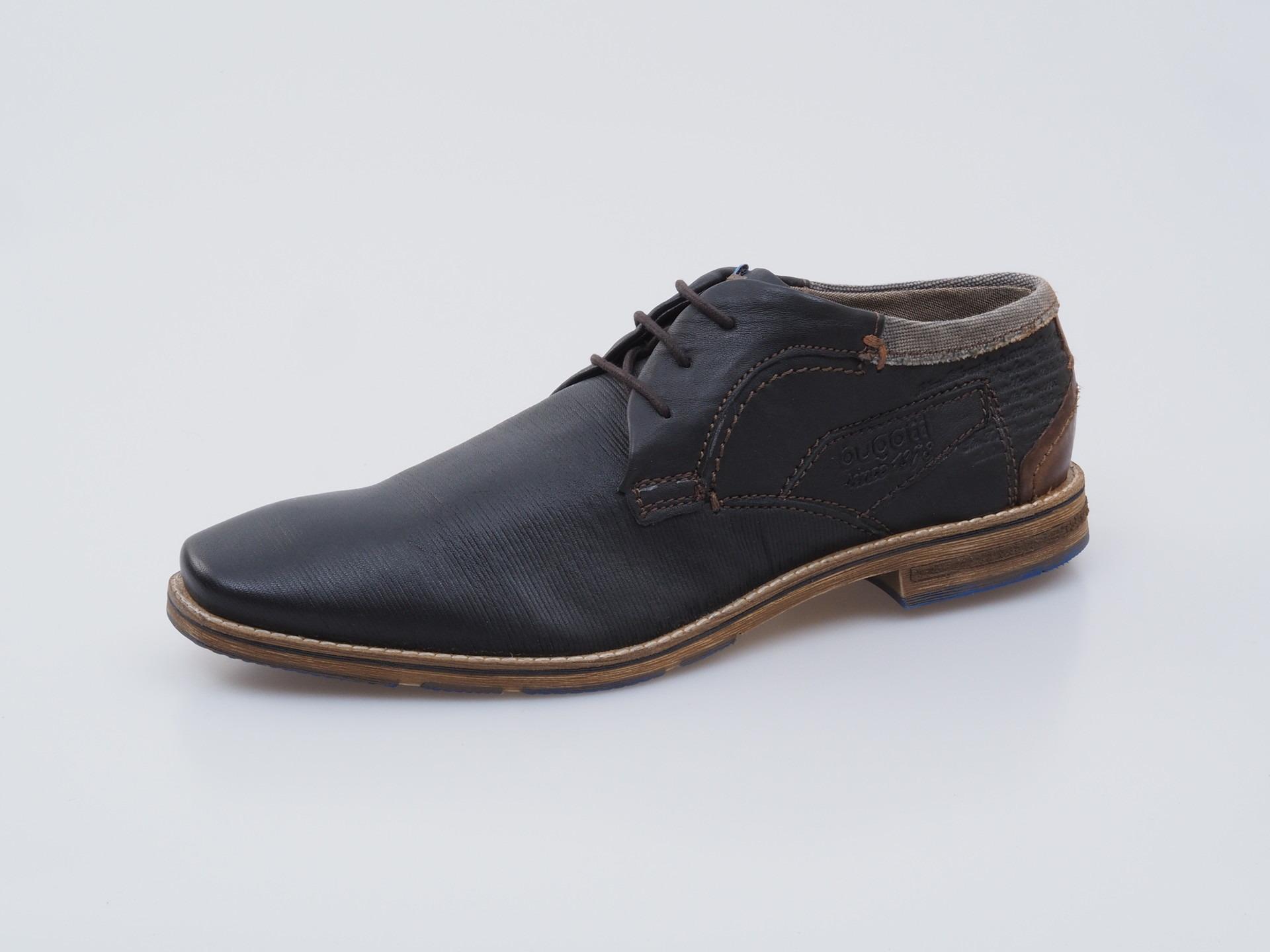 7fe77b63e6 Soňa - Pánska obuv - Poltopánky - Modrá pánska šnurovacia obuv Bugatti