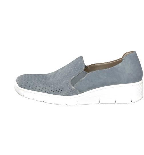 00a0cce129ca3 Soňa - Dámska obuv - Mokasíny - Modré dámske mokasíny Rieker