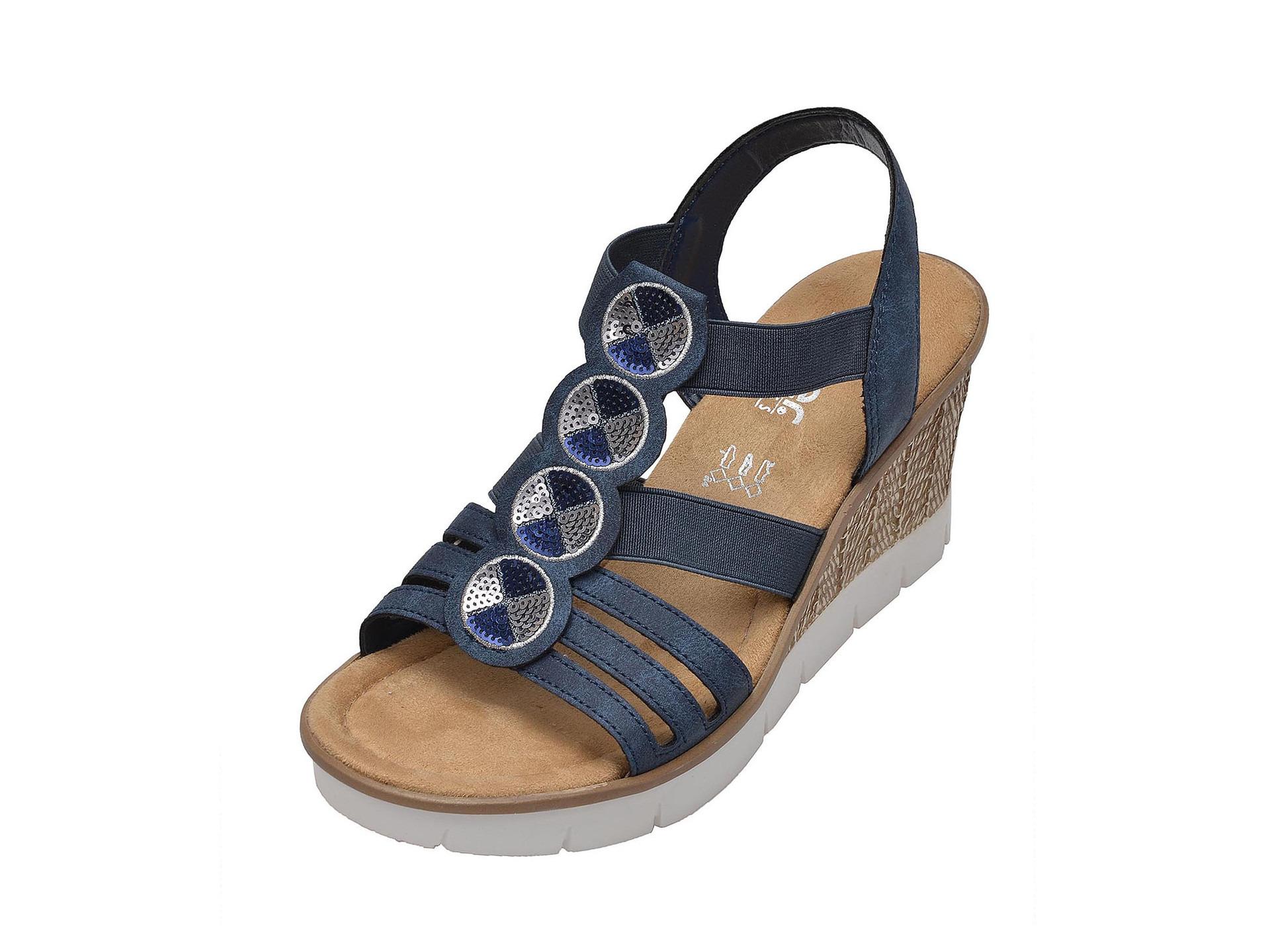 0acd77b8eb124 Soňa - Dámska obuv - Sandále - Modré dámske otvorené sandále na ...
