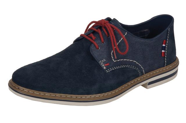 Soňa - Pánska obuv - Poltopánky - Modré semišové topánky Rieker 7f7e51a5b4d