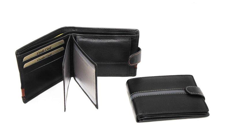 4c93984b04dd Soňa - Pánska - Pánska galantéria - Pánska čierna kožená peňaženka s ...