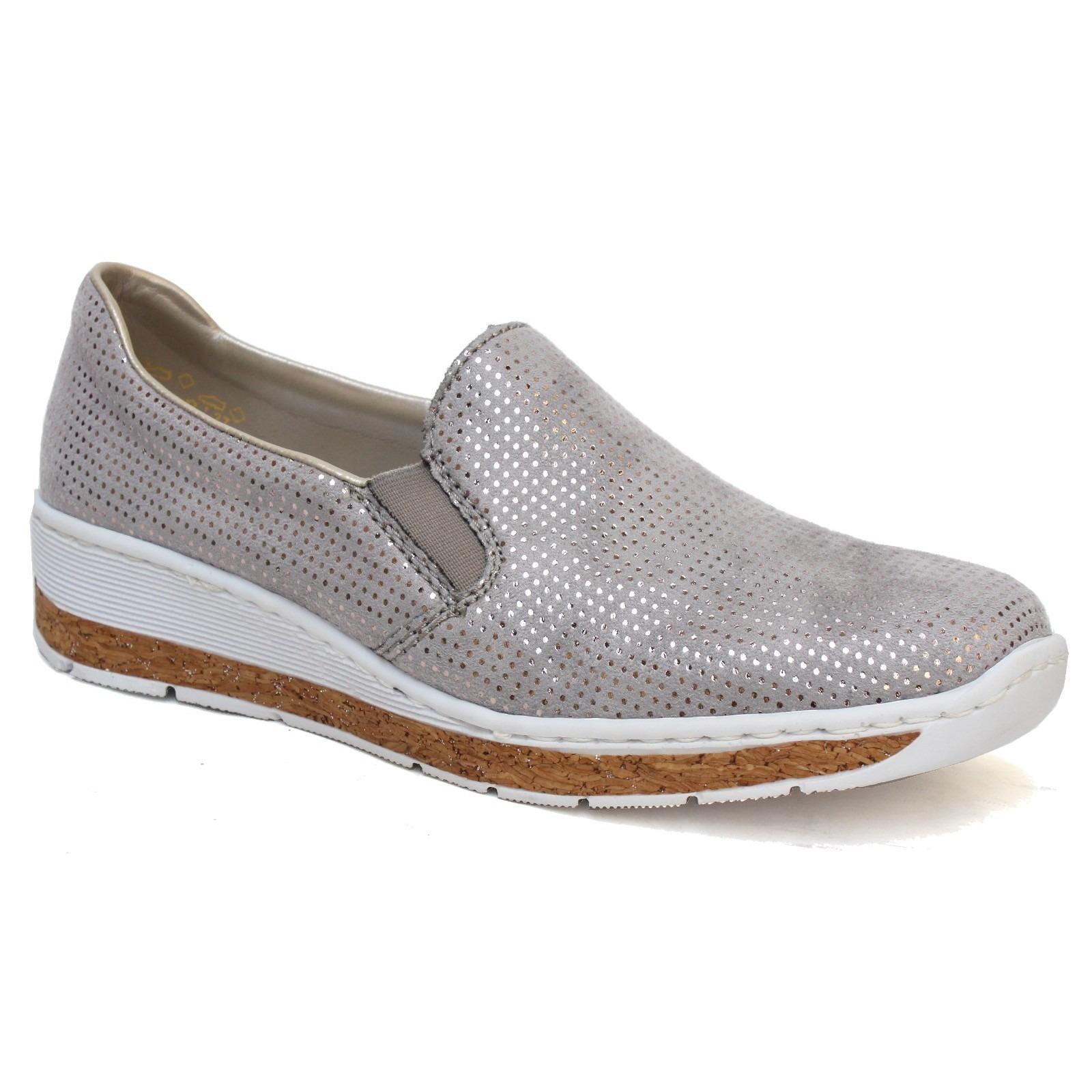 4b938b74e69dc Soňa - Dámska obuv - Mokasíny - Šedé dámske mokasíny značky Rieker