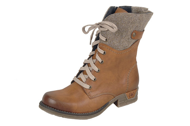 Soňa - Dámska obuv - Kotníčky - Šnurovacie zateplené topánky Rieker dc691efd3b5