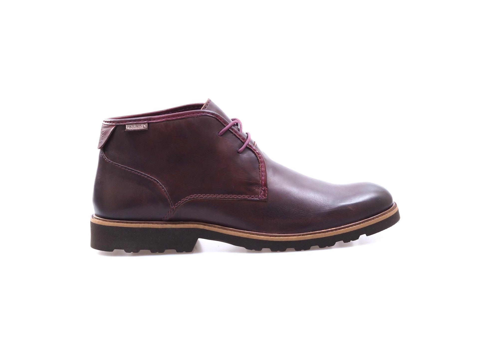Soňa - Pánska obuv - Zimná - Tmavohnedá kožená obuv značky Pikolinos befb5f24207