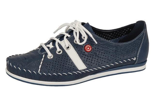 a56f1ac367 Tmavomodré kožené športové topánky Rieker