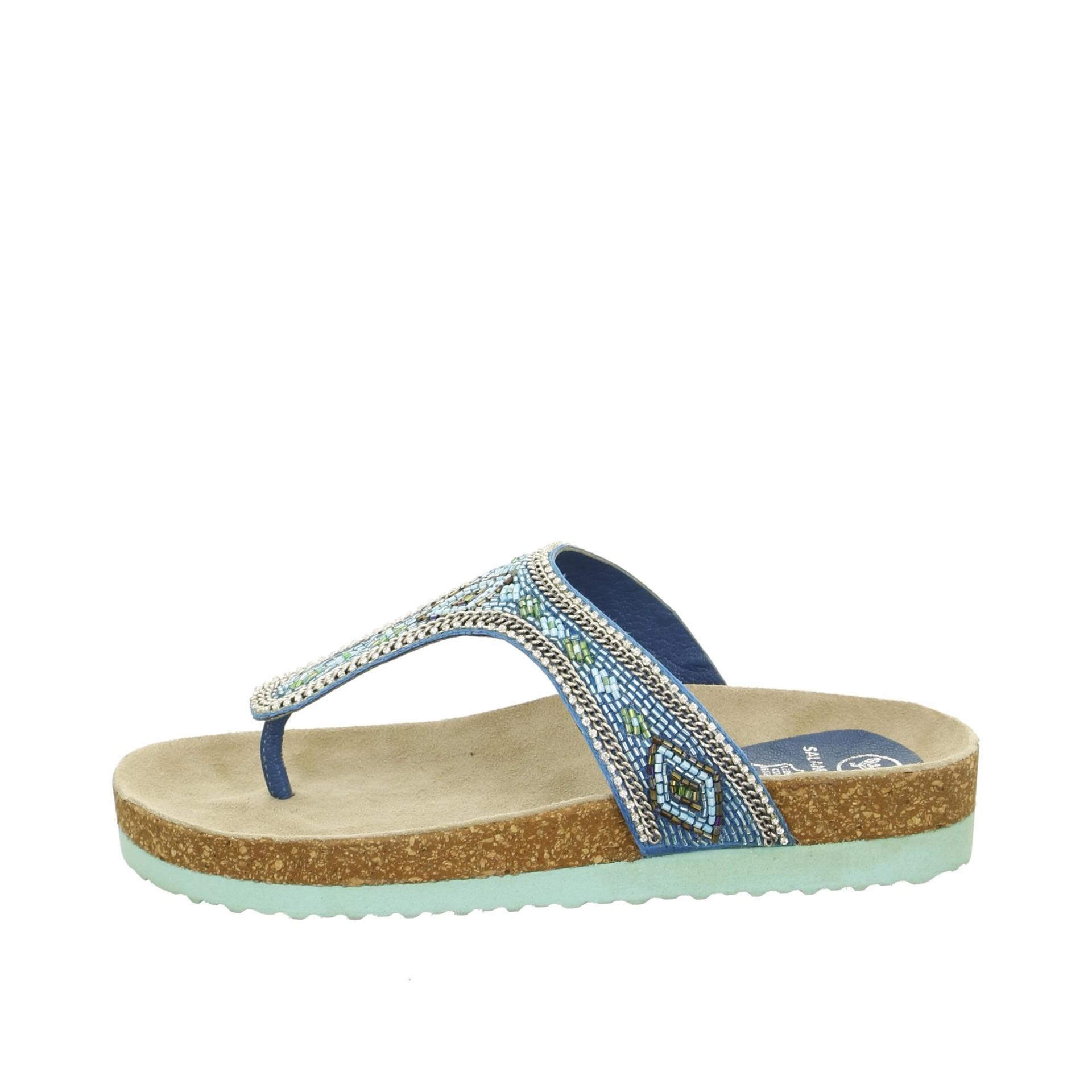 Soňa - Dámska obuv - Šľapky - Tyrkysové dámske šľapky so zdobením 2bb45040a1