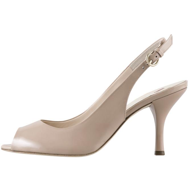 9bc6d8348a3f Béžové dámske otvorené sandále na vysokom podpätku značky Hogl ...