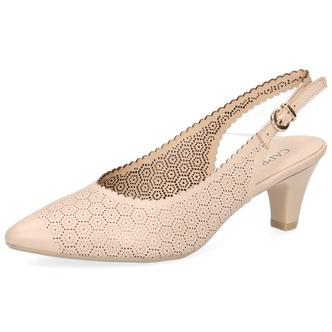 dfb49ea52dcc Béžové dámske sandále na nízkom podpätku značky Caprice ...