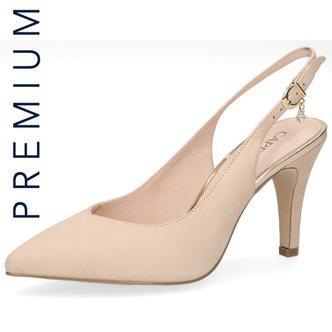 b3dfceac0a1c Béžové dámske sandále na vysokom podpätku značky Caprice ...