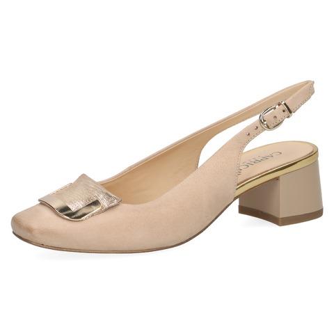 0d68c84f0d6e Soňa - Dámska obuv - Sandále - Béžové dámske uzatvorené sandále na nízkom  podpätku značky Caprice