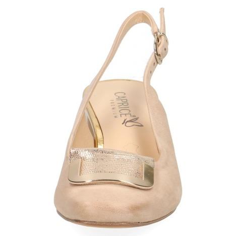 4fa1044dfa994 Soňa - Dámska obuv - Sandále - Béžové dámske uzatvorené sandále na nízkom  podpätku značky Caprice