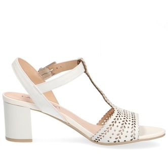 19220b2f8b06 ... Biela dámska otvorená sandála na vysokom podpätku značky Caprice ...