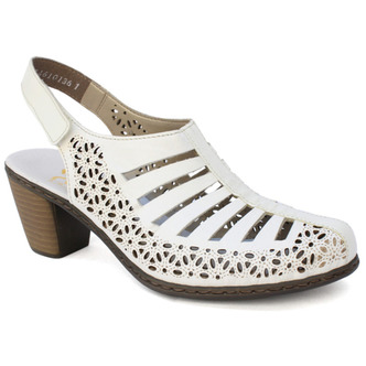 ee55312a480b Biela dámska sandála značky Rieker Biela dámska sandála značky Rieker ...