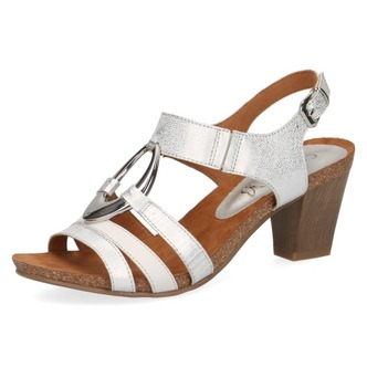 b25bd1304cdc Biele dámske otvorené sandále na vysokom podpätku značky Caprice ...