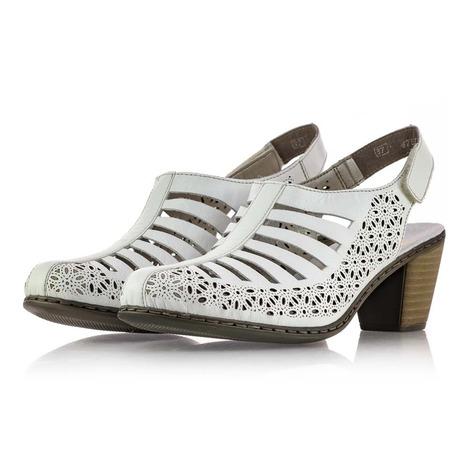 64166aa69 Soňa - Dámska obuv - Sandále - Biele dámske sandále na leto Rieker