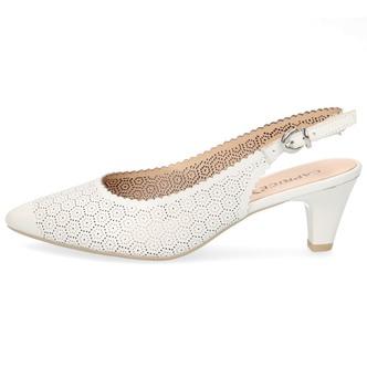 e84f858ede56 ... Biele dámske sandále na nízkom podpätku značky Caprice ...