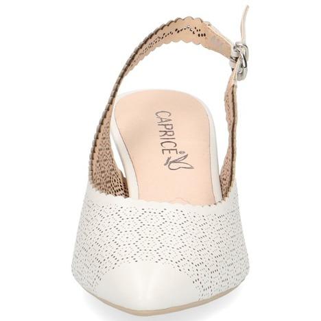998c638d8394d Soňa - Dámska obuv - Sandále - Biele dámske sandále na nízkom podpätku  značky Caprice