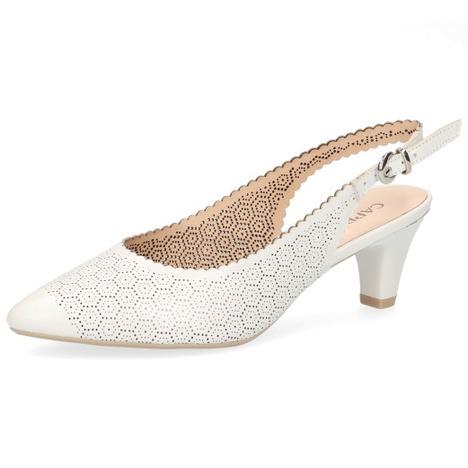 f36e31c64096 Soňa - Dámska obuv - Sandále - Biele dámske sandále na nízkom ...