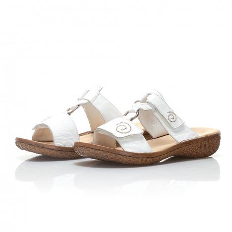 8246314cc42c2 Soňa - Dámska obuv - Šľapky - Biele dámske šľapky na platforme ...