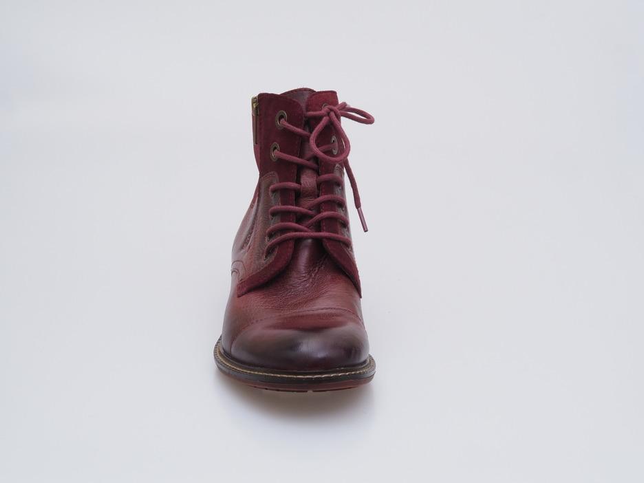 b020b08a09 Soňa - Dámska obuv - Kotníčky - Bordová dámska šnurovacia obuv zateplená