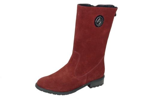 Soňa - Dámska obuv - Čižmy - Bordové kožené zateplené čižmy Rieker 140339804d8