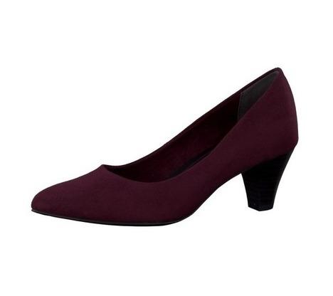 573bbb9e8d7b0 Soňa - Dámska obuv - Lodičky - Bordové textilné lodičky na nízkom podpätku
