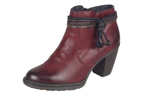 eb6af14347f9 Bordové zateplené členkové topánky Rieker